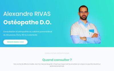Identité visuelle et site web – Ostéopathe